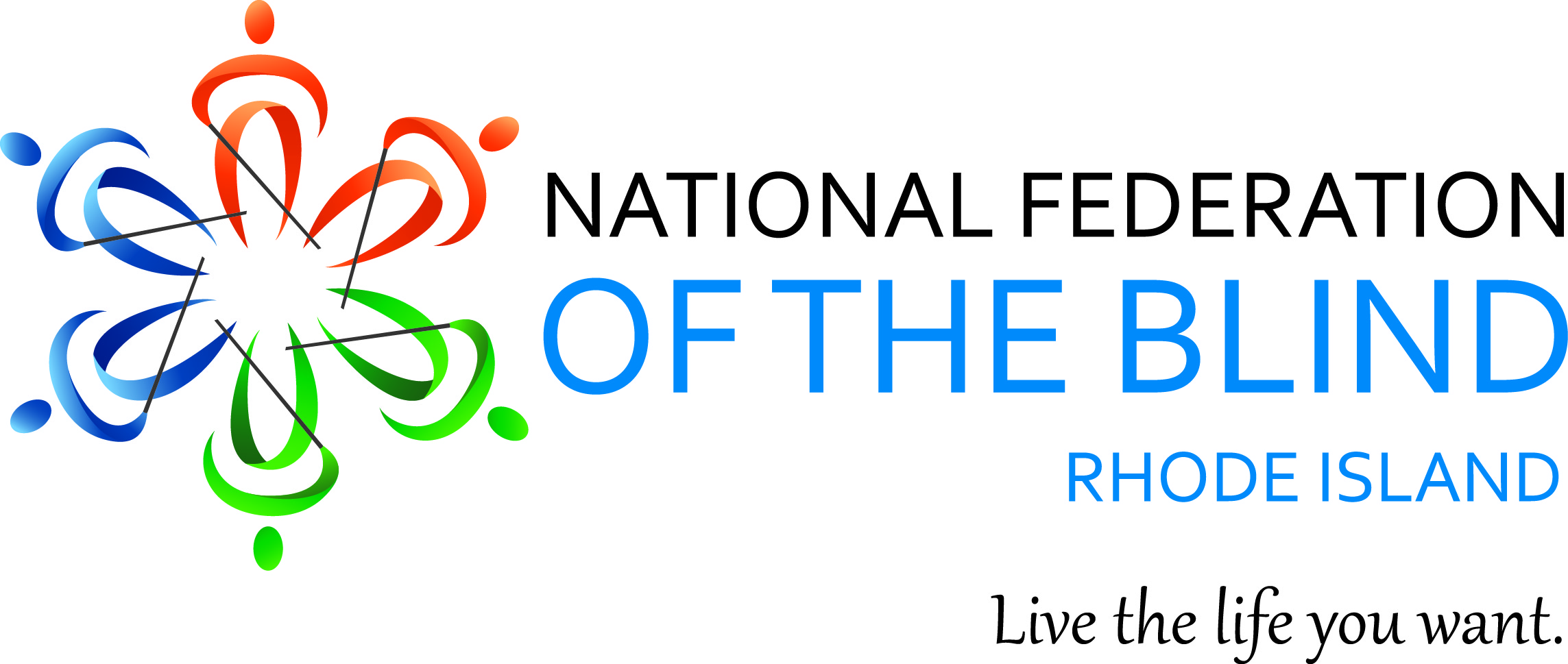 National Federation of the Blind of Rhode Island Logo.